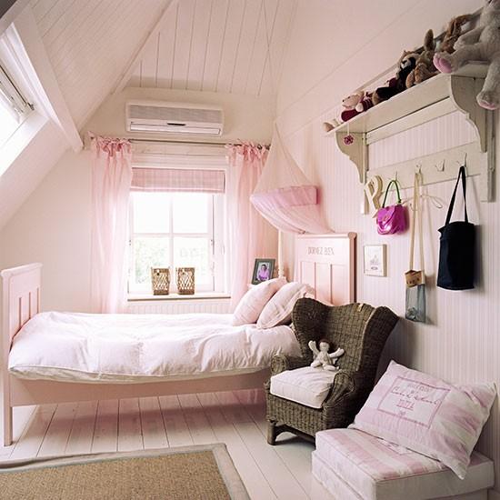 Child's pink loft bedroom | Children's room ideas | Children's room | PHOTO GALLERY | Homes & Gardens | Housetohome.co.uk