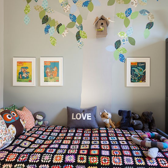 Child's bed with cosy crochet throw   Children's room ideas   Children's room   PHOTO GALLERY   Homes & Gardens   Housetohome.co.uk