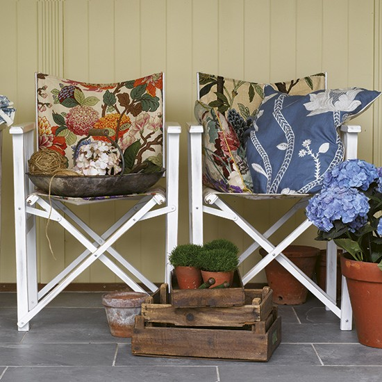 Floral print garden chairs | Country garden design ideas | Garden | PHOTO GALLERY | Housetohome.co.uk