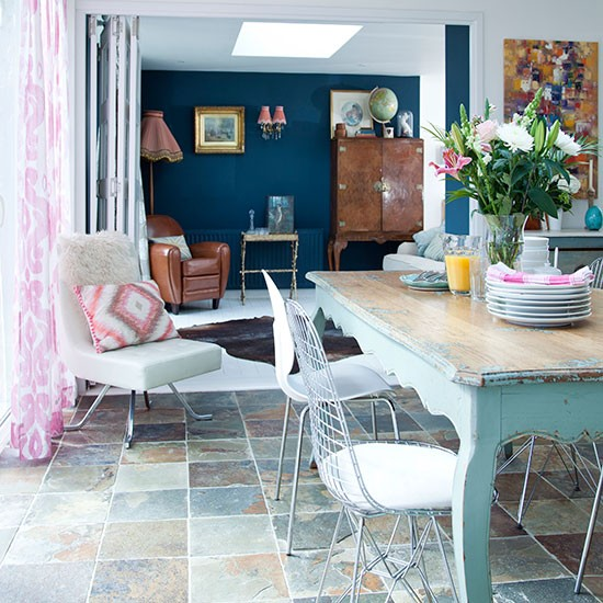 Blue And White Dining Room Dining Room Decorating