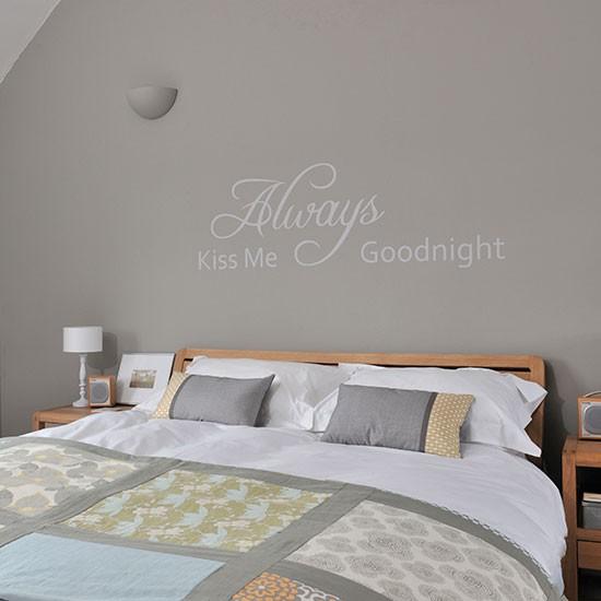 Bedroom Bench For Sale Romantic Bedroom Wallpaper Bedroom Wall Decor Uk Bedroom Bed Image: Grey Bedroom With Decorative Lettering