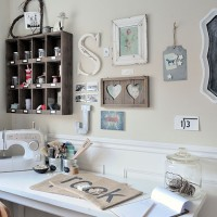 White vintage-style home office