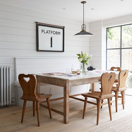 Dining room take a tour around a hamptons style for Victorian terrace dining room ideas