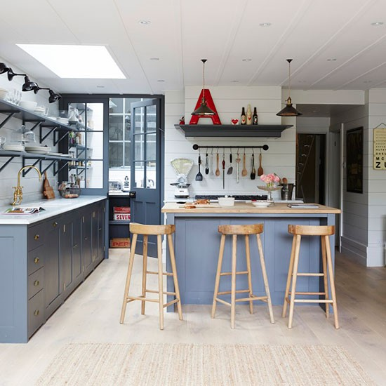 Kitchen diner take a tour around a hamptons style for Kitchen ideas victorian terrace