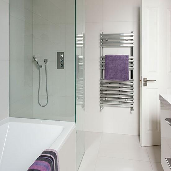 White bathroom with purple accessories bathroom - Lavender and white bathroom ...