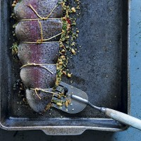 Roast trout stuffed with herb quinoa and peppers