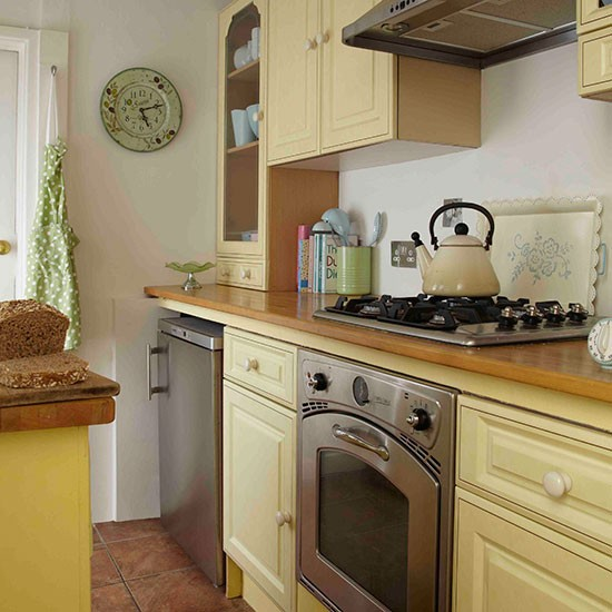 Yellow painted kitchen | Vintage-style Edwardian cottage | House tour | PHOTO GALLERY | Ideal Home | Housetohome.co.uk
