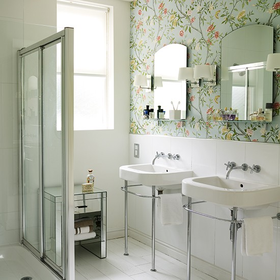 How to make the most of a small shower room shower rooms for Bathroom wallpaper