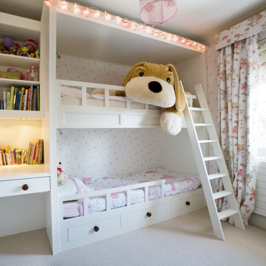 Girls 39 room bunk beds girls 39 bedrooms for Bunk bed bedroom designs