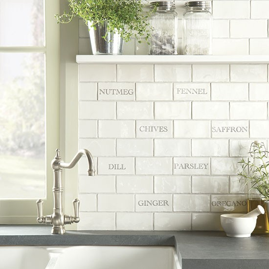Herbs spices tile splashback from the winchester tile Splashback tiles kitchen ideas