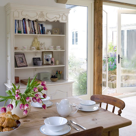 Cream And Pine Country Dining Room