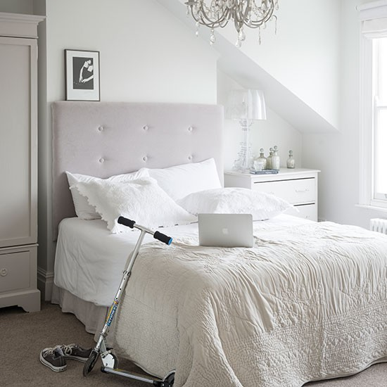 Elegant White Bedroom Bedroom Decorating