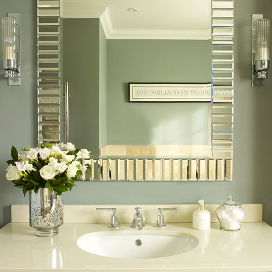 Bathroom mirror and vanity unit | Small bathroom ideas | Bathroom | PHOTO GALLERY | Housetohome.co.uk