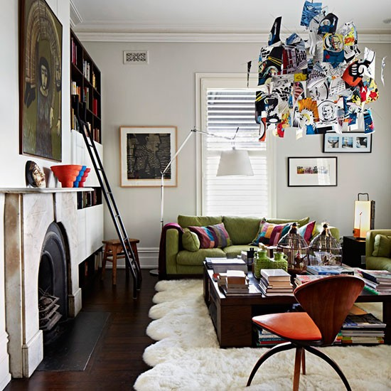 Den | Be inspired by this eclectic and quirky villa in Melbourne | House tour | PHOTO GALLERY | Livingetc | Housetohome.co.uk