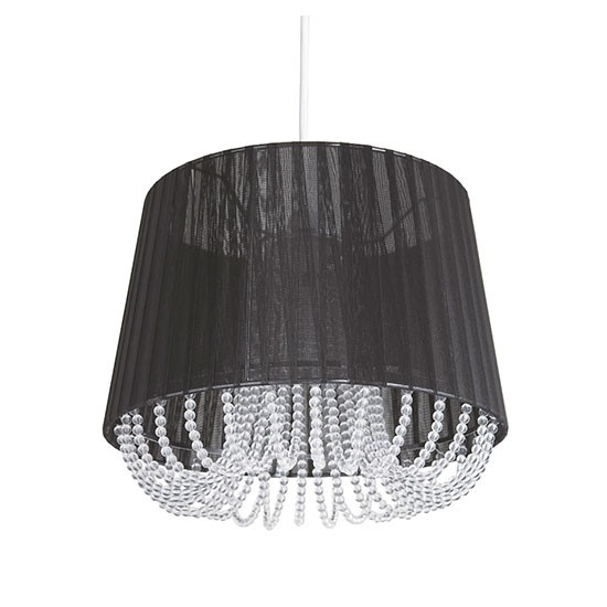 beaded pendant light shade from