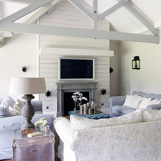 Home Design And Decor Reviews: Light Blue On Low Vaulted Ceilings