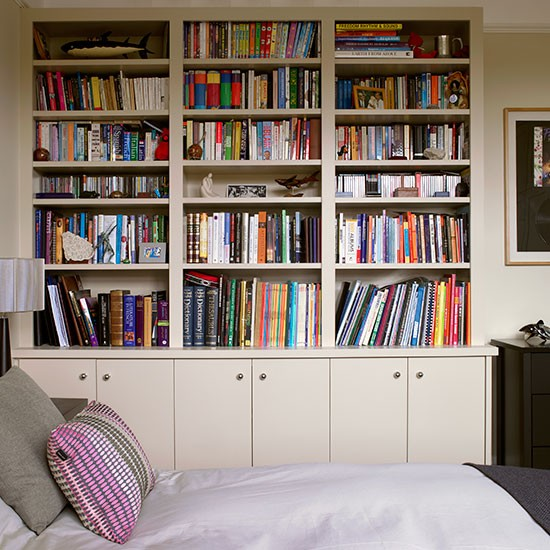 Bedroom Bookshelves Of Fitted Storage Unit Ideas