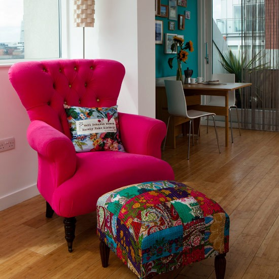 Pink Velvet Armchair How To Decorate With Red And Pink