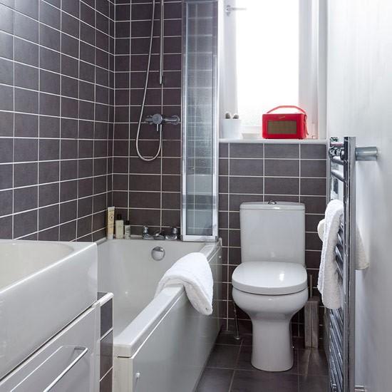Original  Grey Bathroom  Bathroom Designs  Bathroom Tiles  Ideal Home