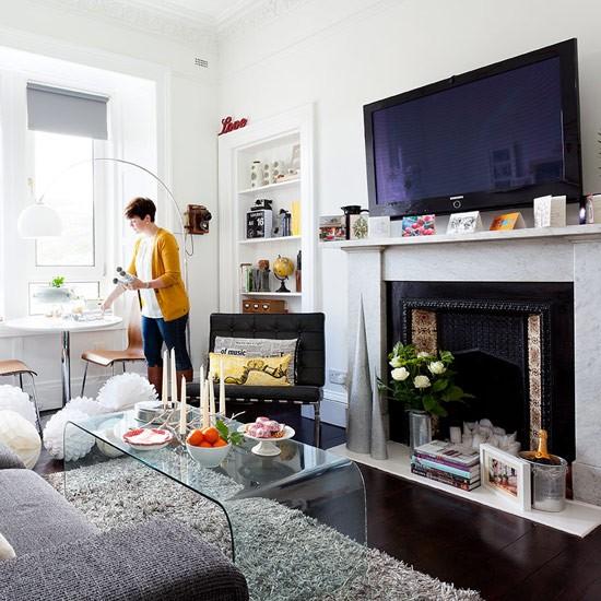 Living Room Corner Take A Tour Of Morag 39 S Contemporary Style Flat In Edinburgh
