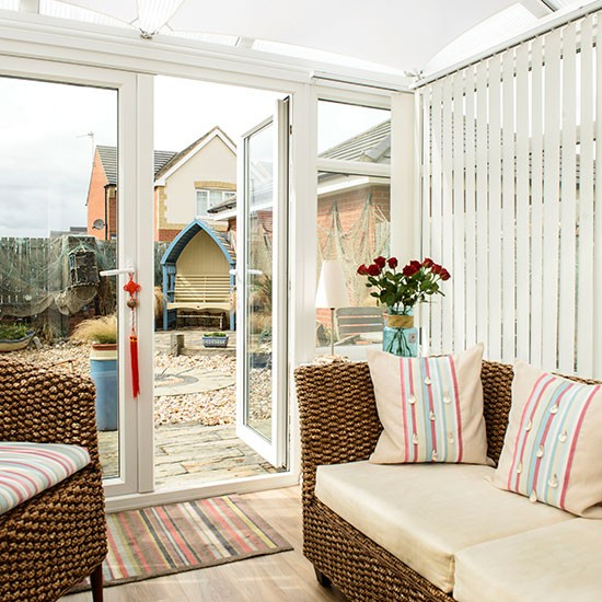 Modern beach inspired conservatory conservatory for Beach house ideas uk