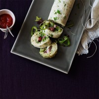 Bacon and leek roly-poly
