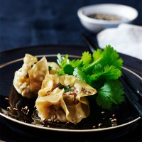 Pork wontons with sesame