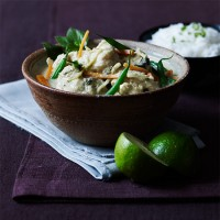 Thai green curry with monkfish