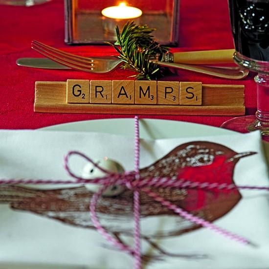 Christmas board game table decoration budget christmas for Xmas room decor games
