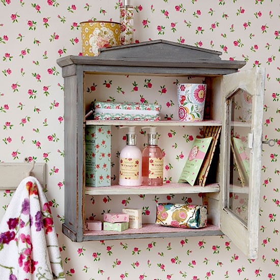 Vintage cabinet | Small bathroom ideas | PHOTO GALLERY | Country Homes & Interiors | Housetohome.co.uk