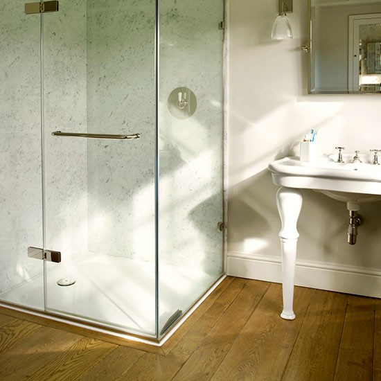 Wooden flooring bathroom flooring for Bathroom floor ideas uk