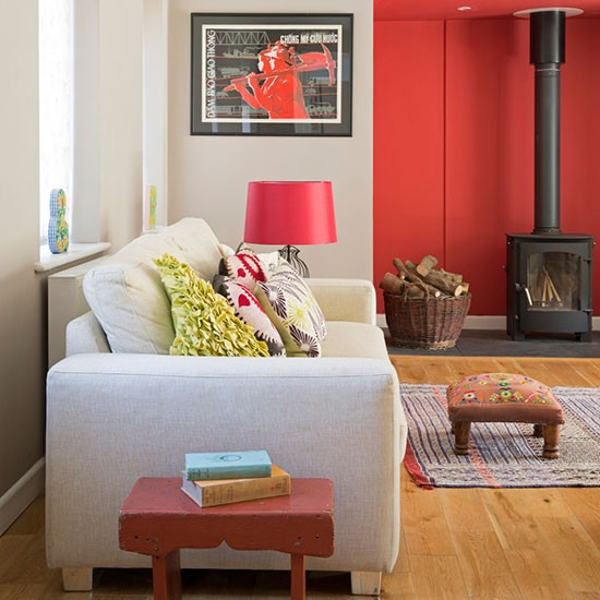 Living room with wood burning stove how rugs can - Living room with wood burning stove ...