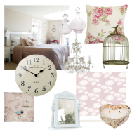 Dusky pink and cream country getaway