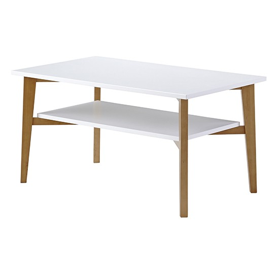 Contemporary Oak And White Coffee Table From Sainsbury's