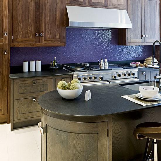 Kitchen With Colourful Splashback Painted Kitchens 10
