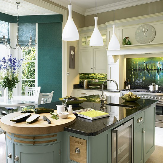 New England Style Kitchen Painted Kitchen Design Ideas