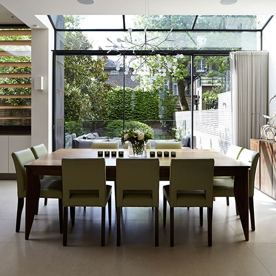 open plan dining room with glass doors dining room decorating