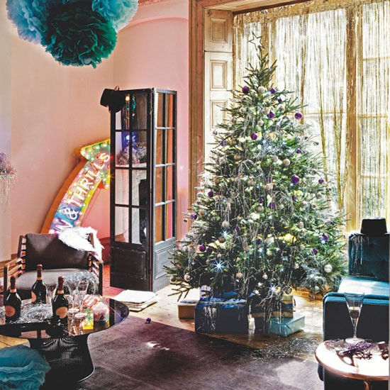 Christmas Party Living Room Modern Decorating