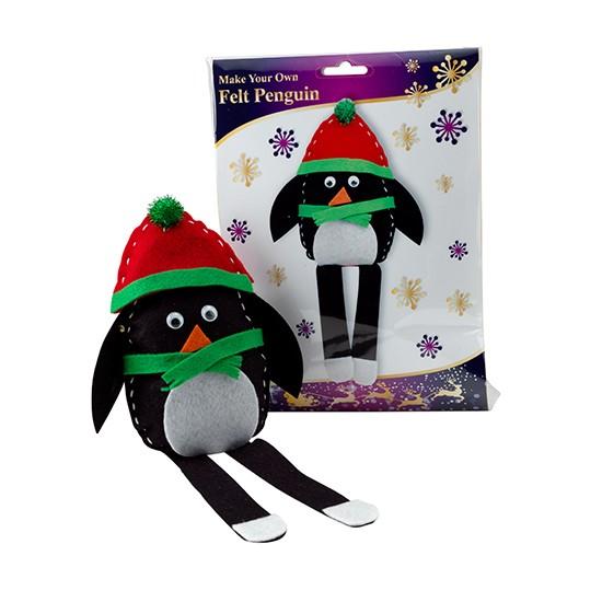 Make your own felt penguin kit from poundland christmas for Gift ideas for craft lovers