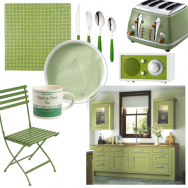 Gorgeously green kitchen 1