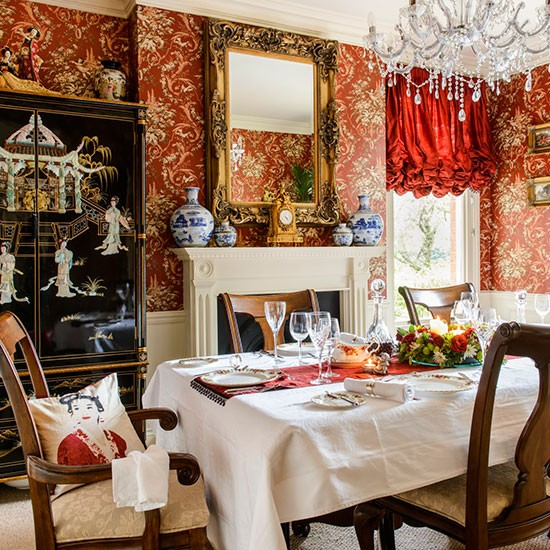 Dining room take a tour around a detached edwardian home for Edwardian dining room ideas