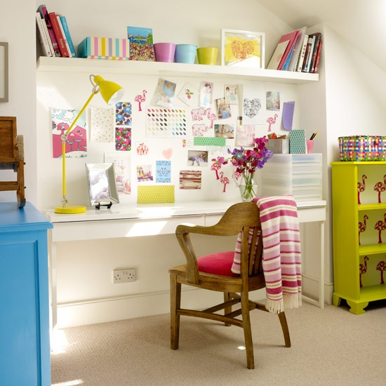 Colourful Office Space Small Home Office Design Ideas