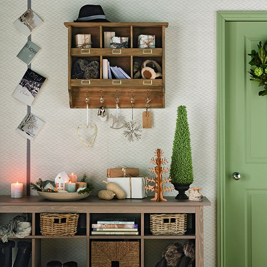 Green And Natural Country Style Hallway Christmas