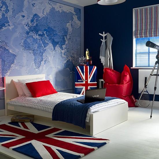 Teenager S Bedroom With Global Theme Teenage Boy S