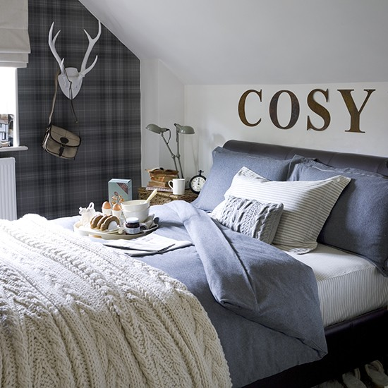 Boy 39 s cosy textural bedroom teenage boy 39 s bedroom ideas Teenage small bedroom ideas uk