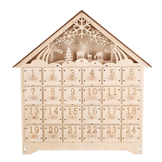 Wooden Advent Calendar Wooden advent calendar