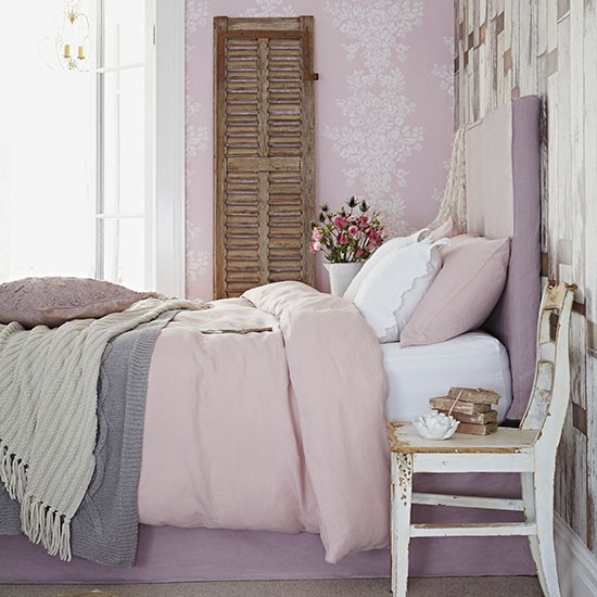 Dusky Pink Country Bedroom Bedroom Decorating