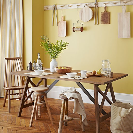 Primrose Yellow Country Dining Room Dining Room Decorating