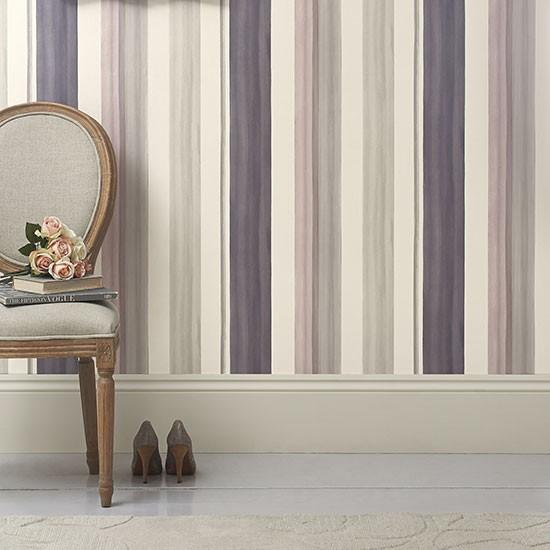 mauve watercolour stripe wallpaper from next stripe