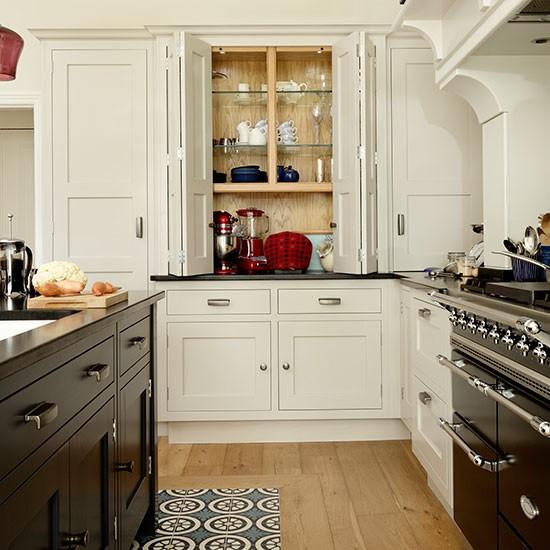 Cream Painted Kitchen With Dresser Unit Kitchen